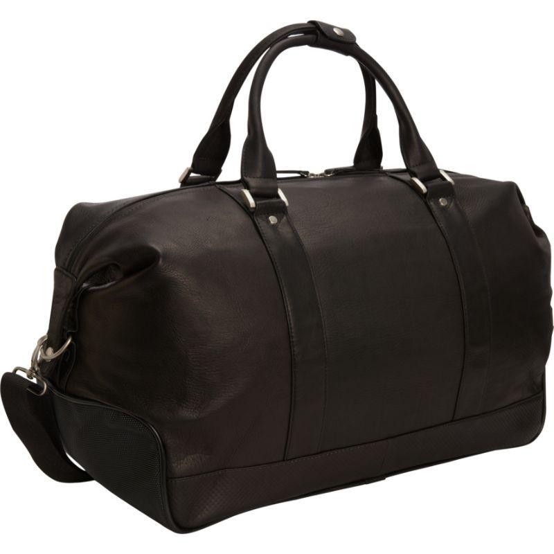 ベリノ メンズ スーツケース バッグ Eiffel Leather Duffle Black