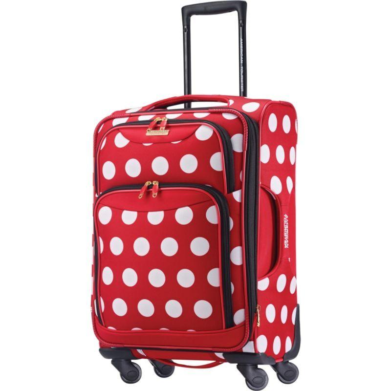 アメリカンツーリスター メンズ スーツケース バッグ Disney Minnie Mouse Softside Spinner 21 Minnie Mouse Polka Dot
