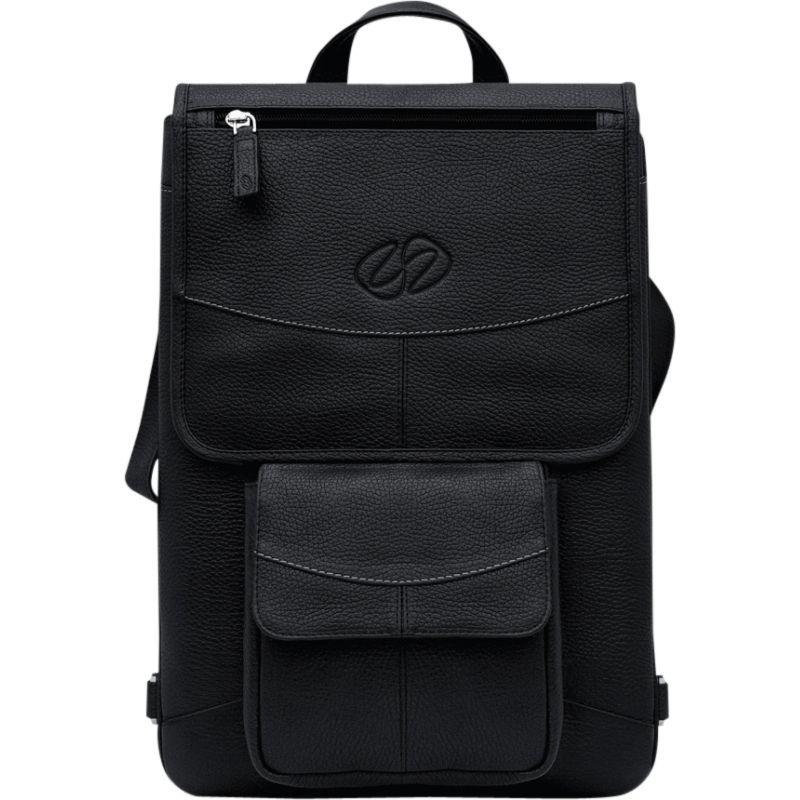 マックケース メンズ ショルダーバッグ バッグ Premium Leather 12 MacBook Flight Jacket Black