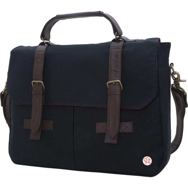トーケン メンズ スーツケース バッグ Waxed Cortelyou Bag Black