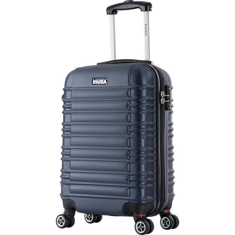 インユーエスエー メンズ スーツケース バッグ New York Collection 20 Carry-on Lightweight Hardside Spinner Suitcase Blue