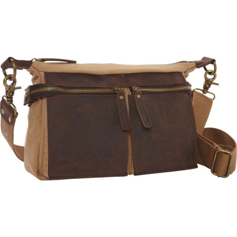 ヴァガボンドトラベラー メンズ ショルダーバッグ バッグ Cotton Canvas Casual Style Messenger Bag Khaki