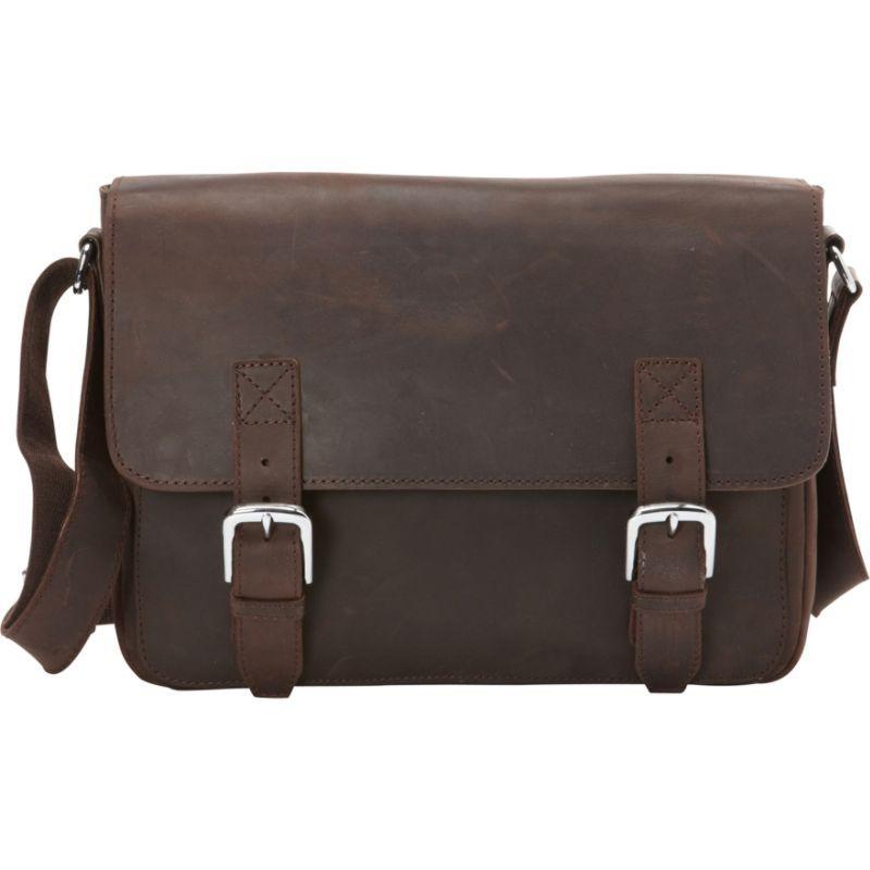 ヴァガボンドトラベラー メンズ ショルダーバッグ バッグ Full Grain Cowhide Leather Casual Messenger Bag Dark Brown