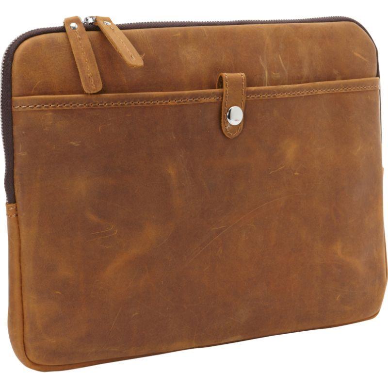 ヴァガボンドトラベラー メンズ スーツケース バッグ 13 MacBook Pro Full Grain Leather Sleeve Vintage Brown