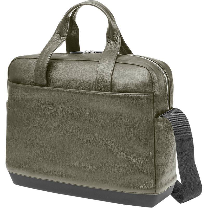 モレスキン メンズ スーツケース バッグ Classic Leather Briefcase Moss Green