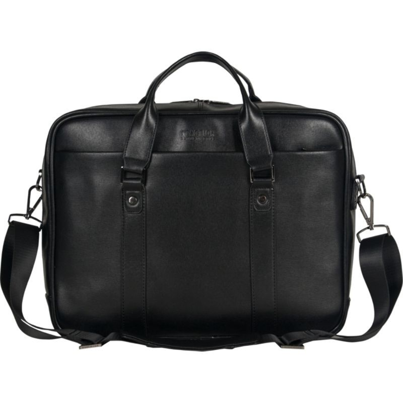 "ケネスコール メンズ スーツケース バッグ Wall-Street Hustle Single Compartment Top Zip 15.6"" Laptop Brief Black"