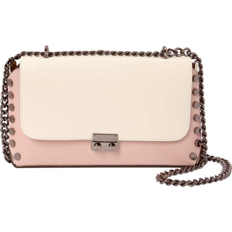 シャロレザーバッグス メンズ ショルダーバッグ バッグ Two-Tone Studded Shoulder Bag Beige-Pink