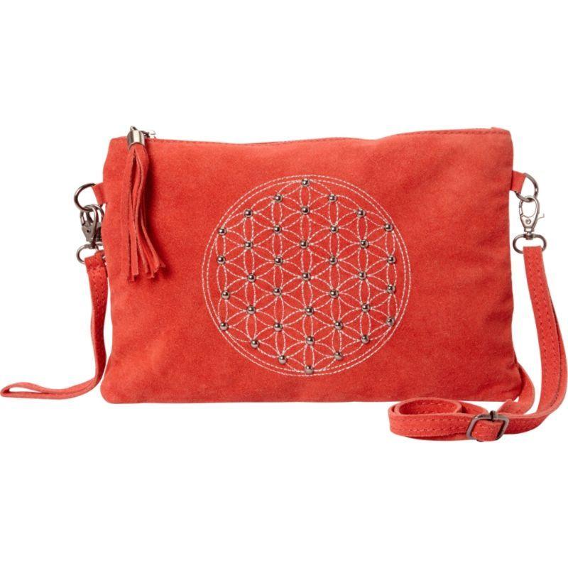 シャロレザーバッグス メンズ ショルダーバッグ バッグ Studded Shoulder Bag with Tassel Red