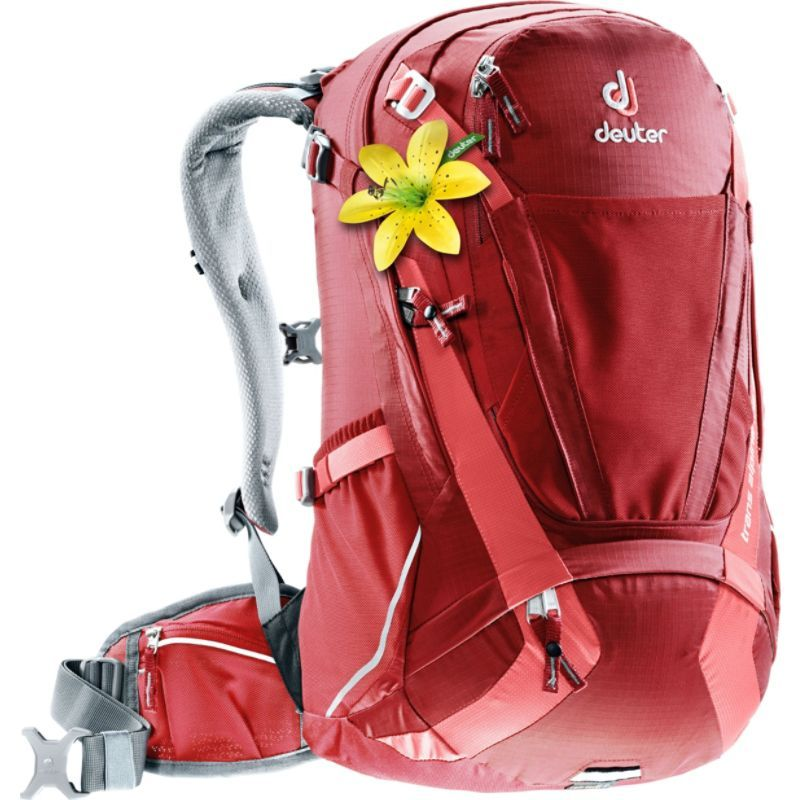ドイター メンズ バックパック・リュックサック バッグ Trans Alpine 28 SL Hiking Pack Cranberry/Coral