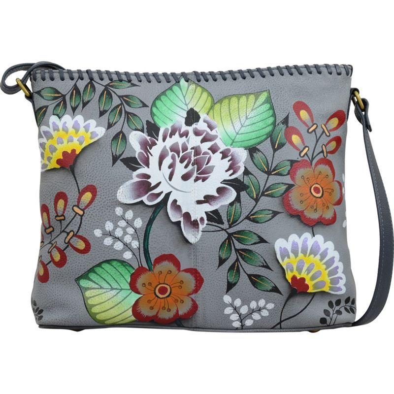 アンナバイアナシュカ メンズ ショルダーバッグ バッグ Hand Painted Leather Shoulder Bag Garden Of Eden