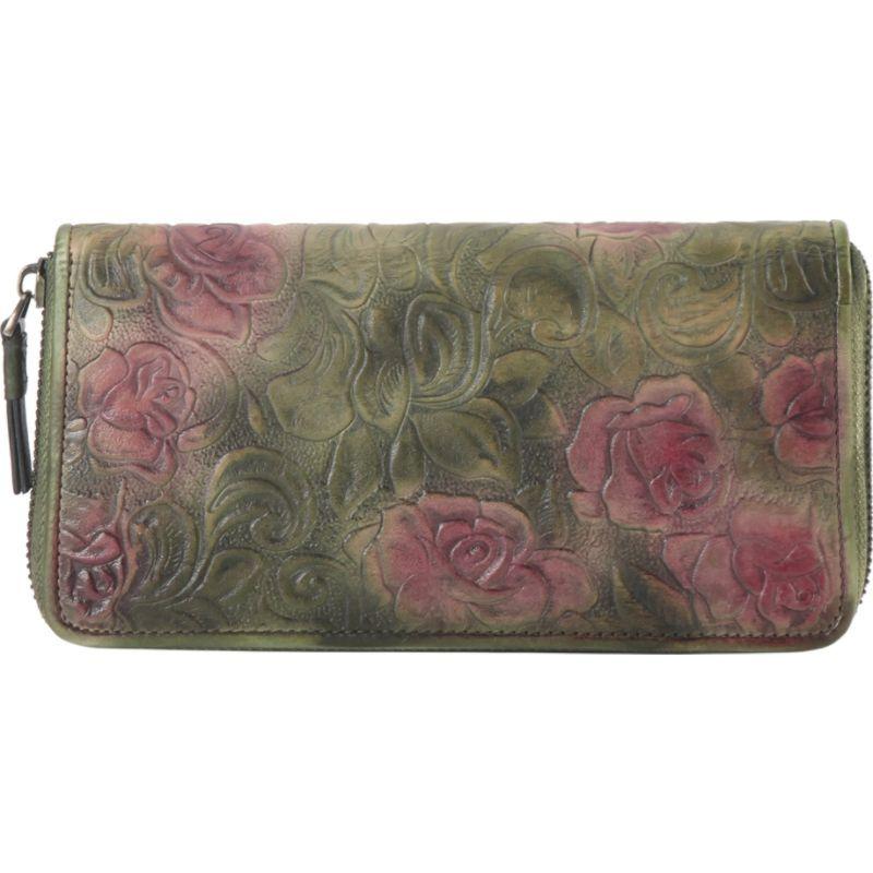 ディオフィ メンズ セカンドバッグ・クラッチバッグ バッグ Cameo Rose Round-Zip Wallet Green