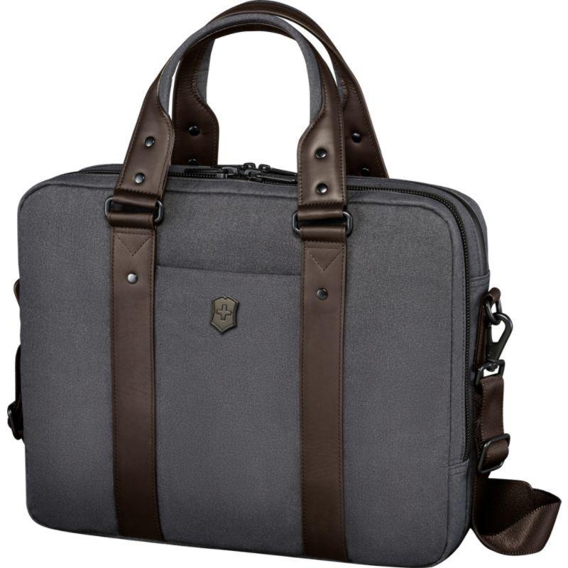 ビクトリノックス メンズ スーツケース バッグ Architecture Urban Bodmer 14 Laptop Brief Grey/Brown