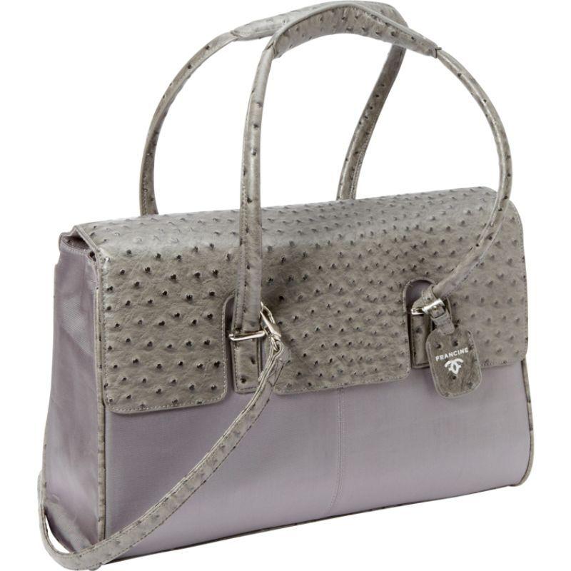 ウーメンインビジネス レディース スーツケース バッグ Francine Collection - 15.6 Gray Ostrich London Laptop Case Grey