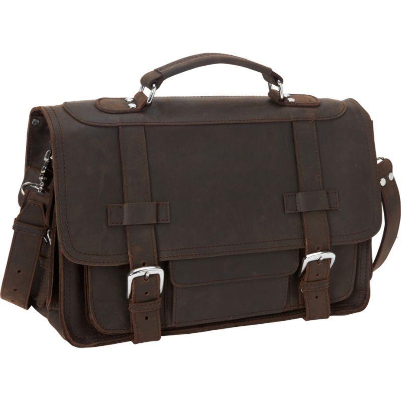 ヴァガボンドトラベラー メンズ スーツケース バッグ 17 Cowhide Leather Travel Overnight Bag Dark Brown