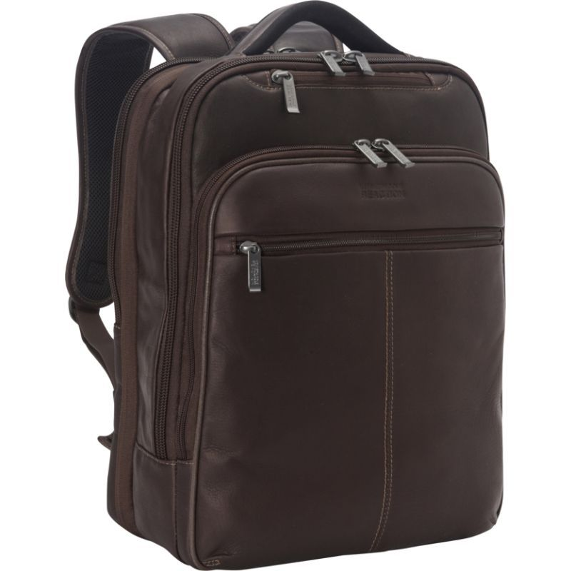 ケネスコール メンズ スーツケース バッグ Back-Stage Access Colombian Leather Laptop Backpack Brown