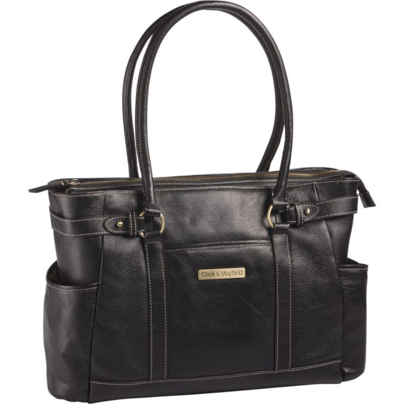クラークアンドメイフィールド メンズ スーツケース バッグ Hawthorne Leather 17.3 Laptop Handbag Black