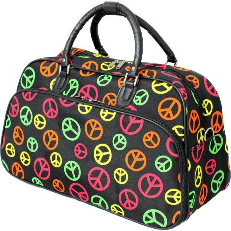 ワールドトラベラー メンズ スーツケース バッグ Peace Sign 21 Carry On Duffel Bag Multi Peace Sign4Rq35LAj