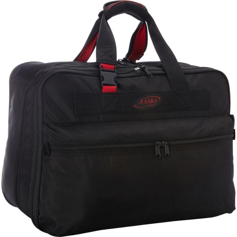 エーサックス メンズ スーツケース バッグ 21 Double Expandable Soft Carry-On Black/Red