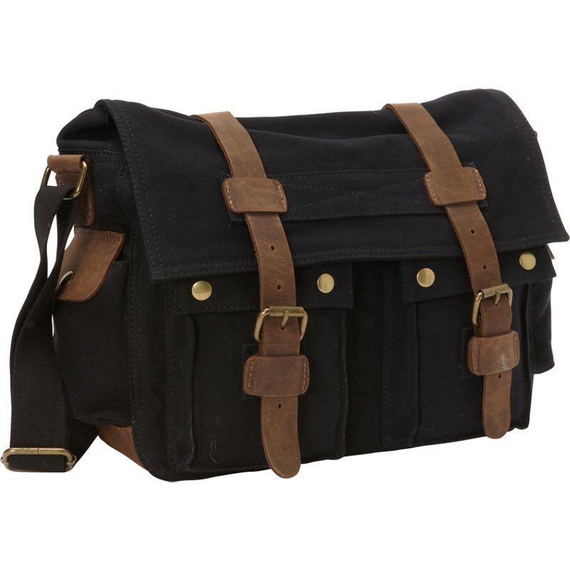 ヴァガボンドトラベラー メンズ ショルダーバッグ バッグ Classic Canvas Messenger Bag Black