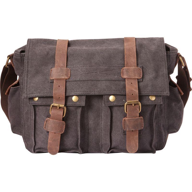 ヴァガボンドトラベラー メンズ ショルダーバッグ バッグ Classic Canvas Messenger Bag Grey