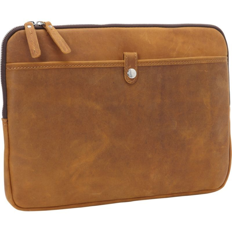 ヴァガボンドトラベラー メンズ スーツケース バッグ 15 MacBook Pro Full Grain Leather Sleeve Vintage Brown