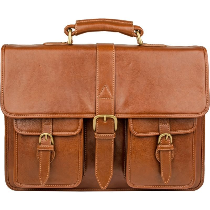スカーリー メンズ スーツケース バッグ Ranchero Leather Quick Release Buckle Workbag Tan