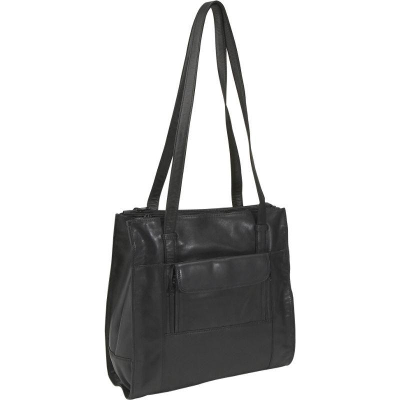 デレクアレクサンダー メンズ ショルダーバッグ バッグ Triple Compartment North South Shopper Black