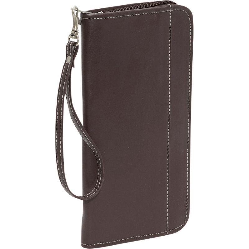 ピエール メンズ 財布 アクセサリー Zippered Passport/Ticket Holder Chocolate