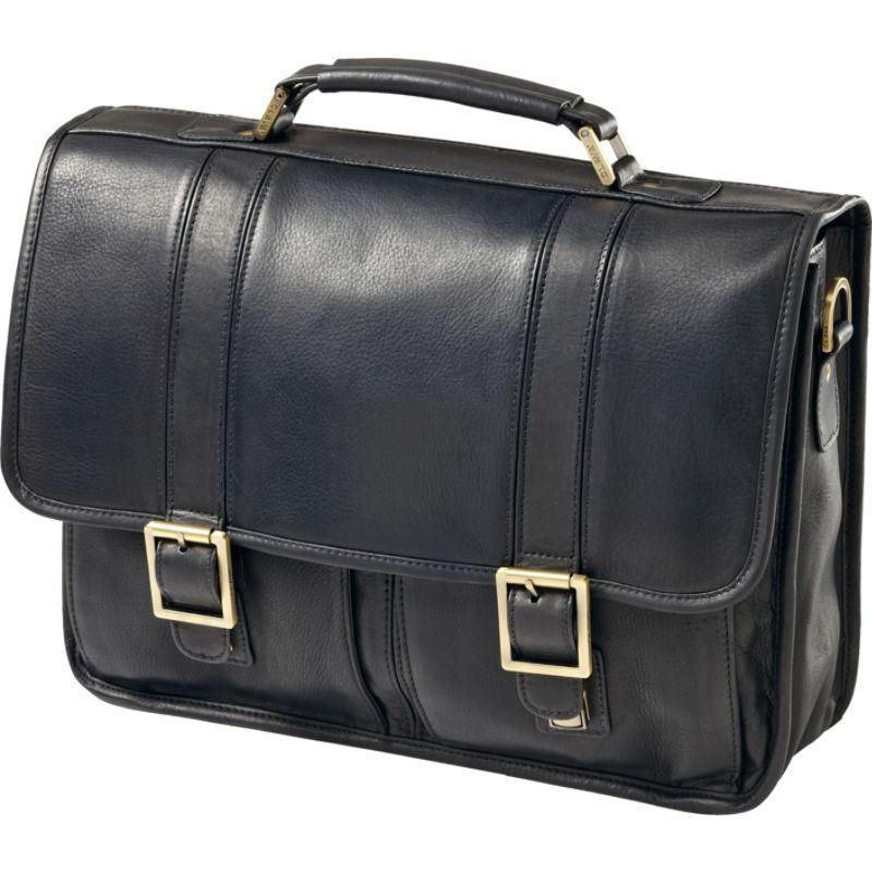 クレバ メンズ スーツケース バッグ Vachetta Leather Laptop Briefcase Vachetta Black
