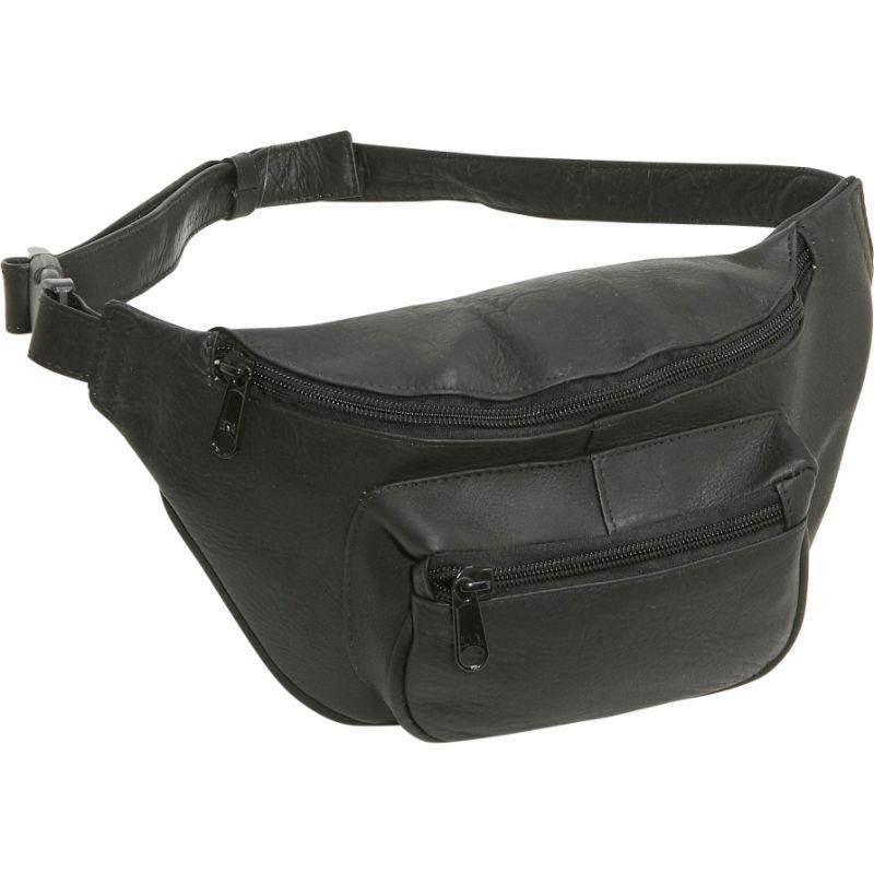 ルドネレザー メンズ ボディバッグ・ウエストポーチ バッグ Waist Bag Black