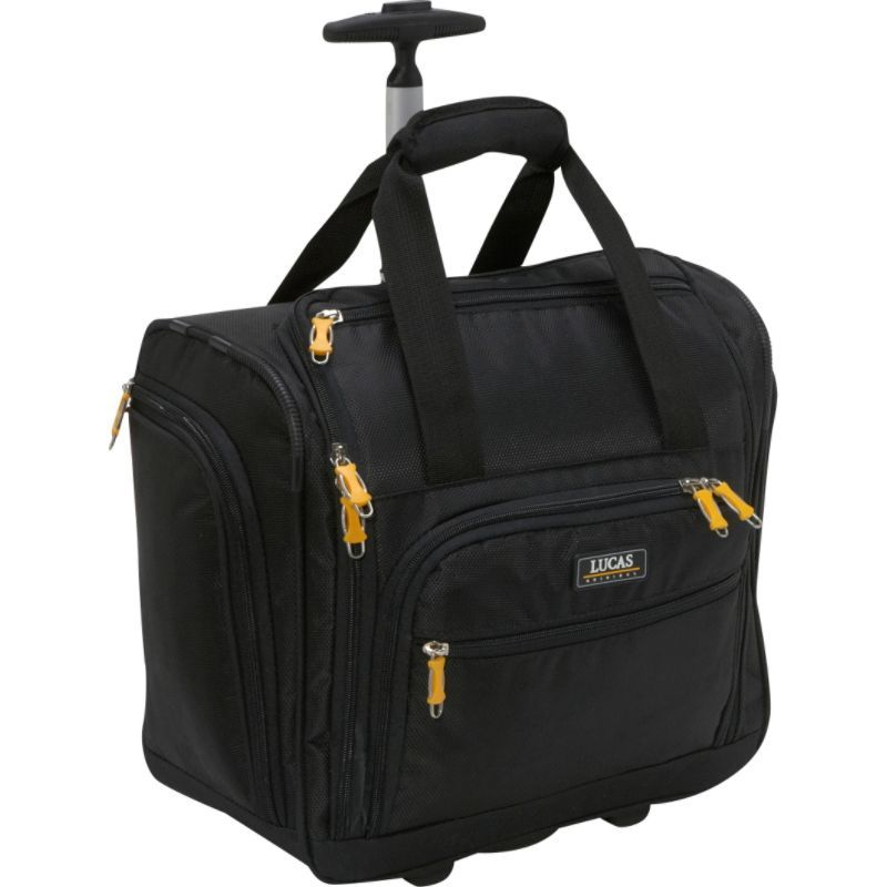 ルーカス メンズ スーツケース バッグ Wheeled Underseat Cabin Bag 16 - eBags EXCLUSIVE Black