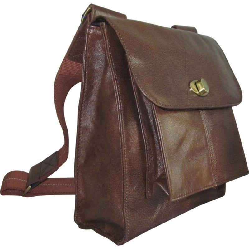 アメリ メンズ ショルダーバッグ バッグ Antony Leather Messenger Bag Brown