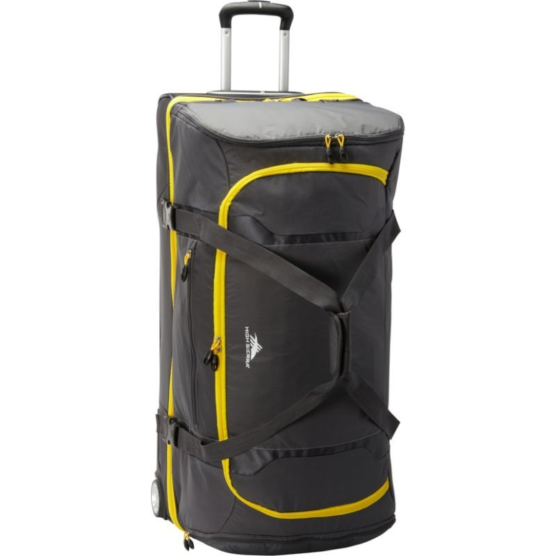 ハイシエラ メンズ スーツケース バッグ Sportour 34 Wheeled Drop Bottom Duffel Grey/Black/Sunflower