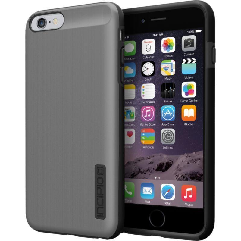 インシピオ メンズ PC・モバイルギア アクセサリー DualPro SHINE iPhone 6/6s Plus Case Gunmetal/ Black