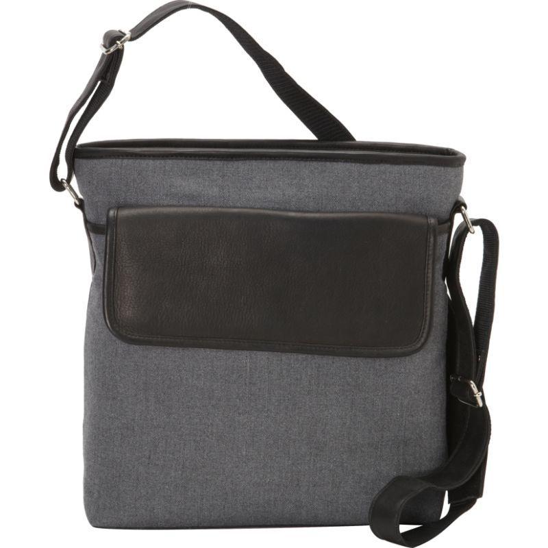 ピエール メンズ ショルダーバッグ バッグ Front Flap Shoulder Bag Black Grey