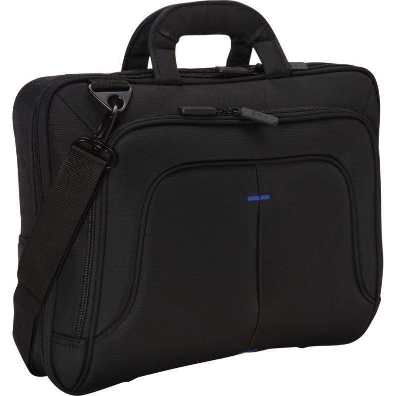 エコスタイル メンズ スーツケース バッグ TechPro Case 16.1 Checkpoint Friendly Black/Blue