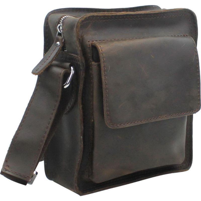 ヴァガボンドトラベラー メンズ Bag ボディバッグ Brown Dark・ウエストポーチ バッグ 9.5 Leather Crossbody Bag Dark Brown, aikan shop:57e4ab7a --- bistrobla.se