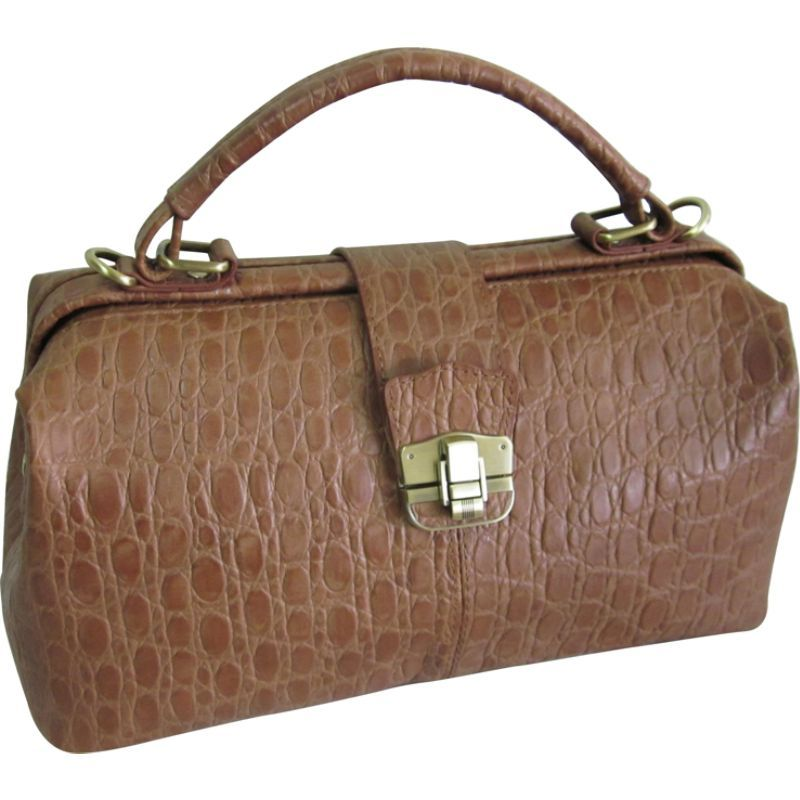 アメリ メンズ ショルダーバッグ バッグ Hillary Classic Shoulder Bag Brown Pebble-Print