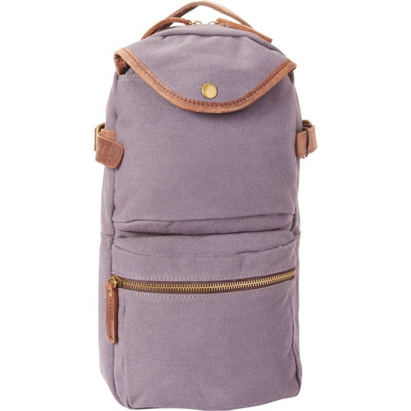 ヴァガボンドトラベラー メンズ バックパック・リュックサック バッグ Slim Long Shape Cotton Canvas Backpack Blue Grey