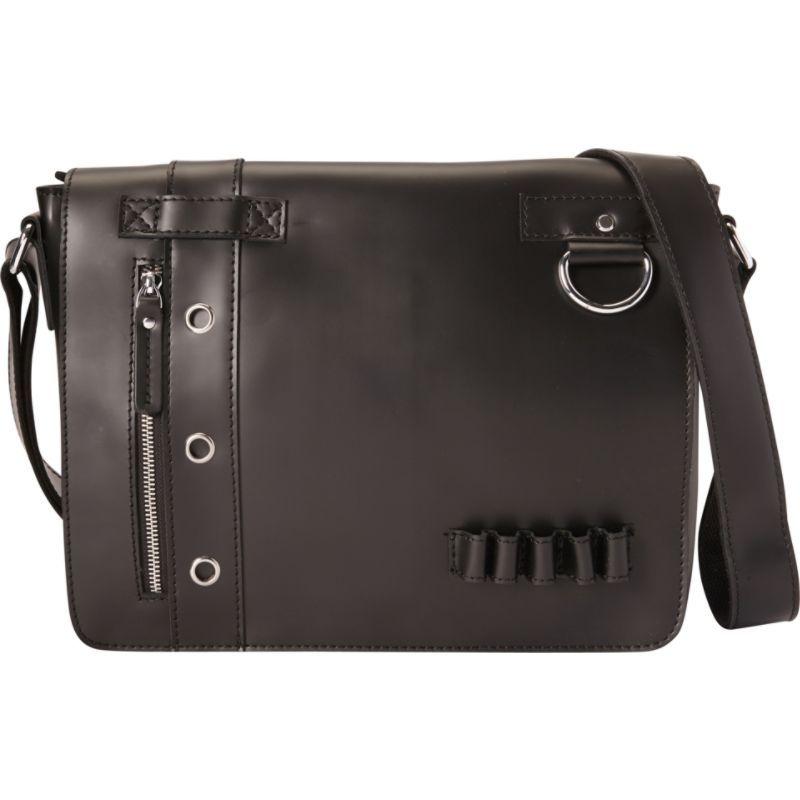 ヴァガボンドトラベラー メンズ ショルダーバッグ バッグ Full Grain Leather Asymmetrical Messenger Bag Black