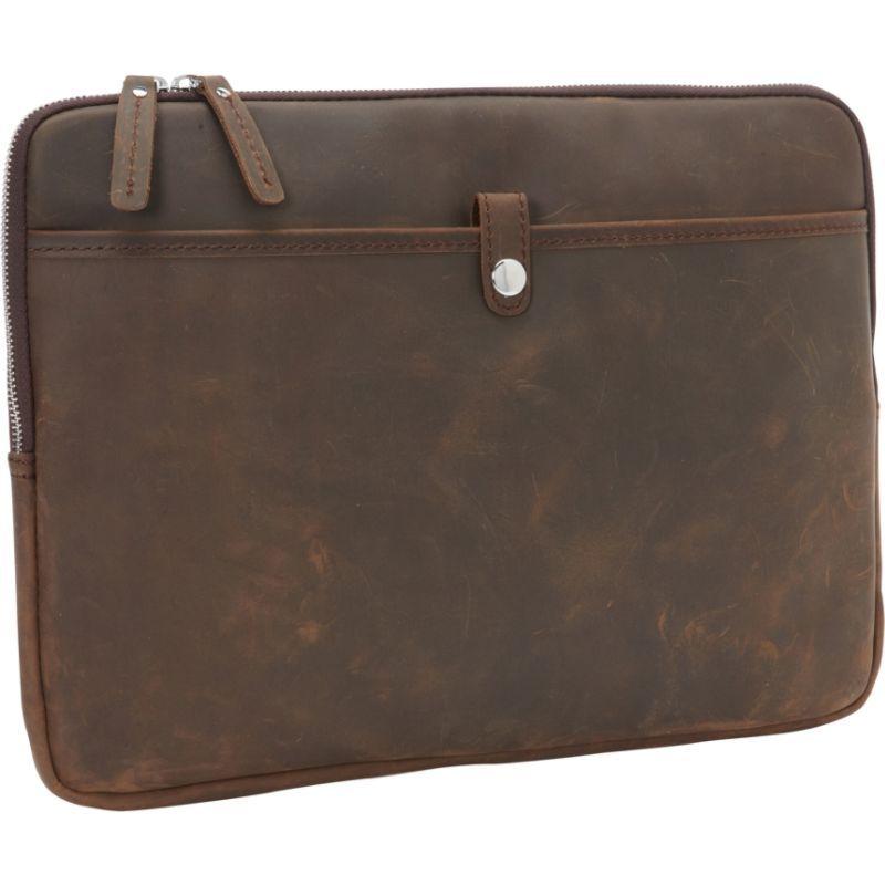 ヴァガボンドトラベラー メンズ スーツケース バッグ 15 MacBook Pro Full Grain Leather Sleeve Distress