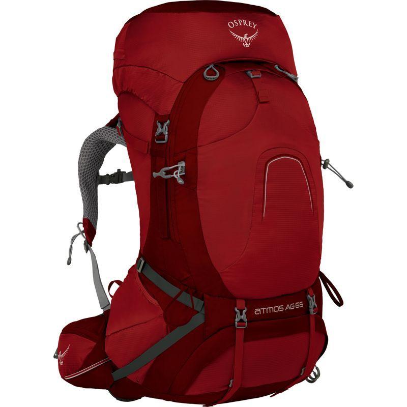オスプレー メンズ バックパック・リュックサック バッグ Atmos AG 65 Backpack Rigby Red LG
