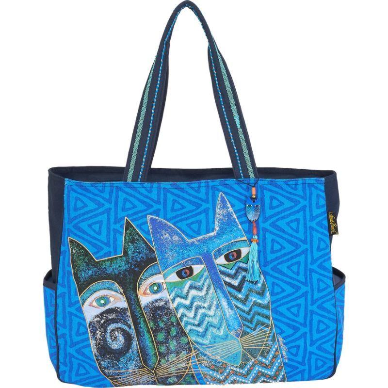 ローレルバーチ メンズ トートバッグ バッグ Blue Cats Oversized Tote Multi