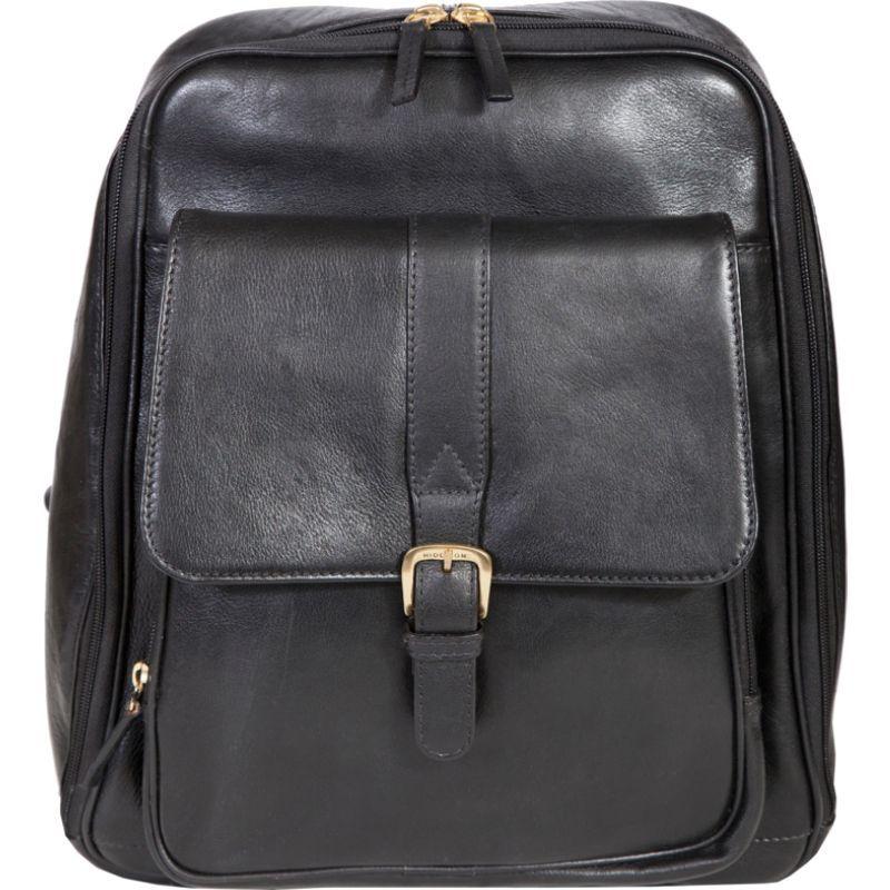 スカーリー メンズ スーツケース バッグ Hand Stained Calf Leather Business Backpack Black