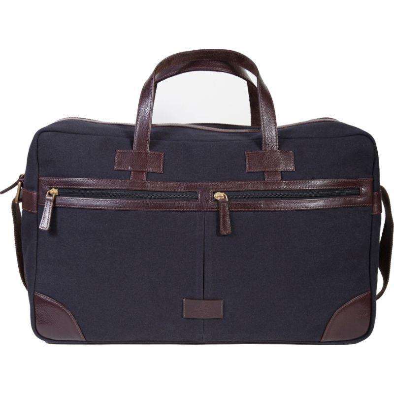 スカーリー メンズ スーツケース バッグ Cambria Berkeley Travel Duffel Bag Brown Leather & Midnight Navy Canvas