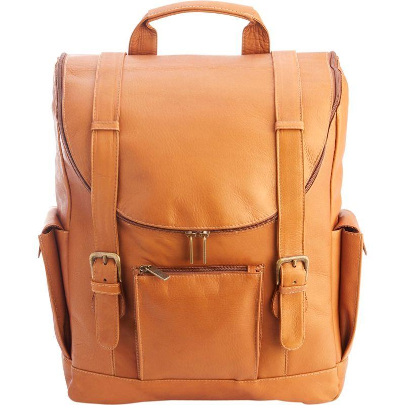 ロイスレザー メンズ スーツケース バッグ Colombian Leather Backpack with 15 Laptop Sleeve Tan