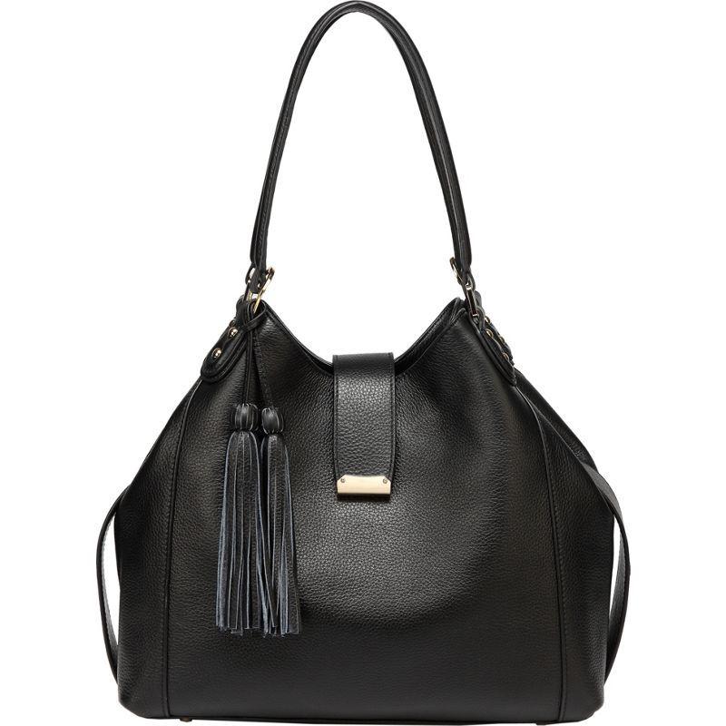 ビンセンゾレザー メンズ ショルダーバッグ バッグ Ines Shoulder Bag Black