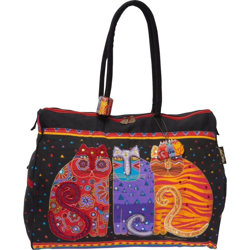 ローレルバーチ メンズ スーツケース バッグ Feline Friends Multi