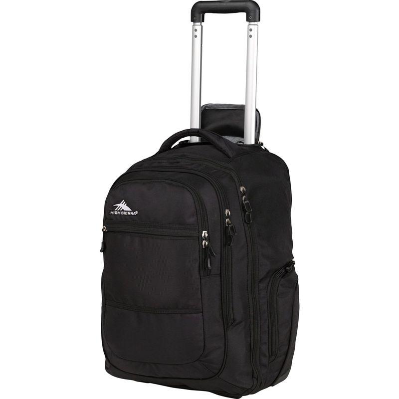 ハイシエラ メンズ バックパック・リュックサック バッグ Rev Wheeled Laptop Backpack - 15 Black