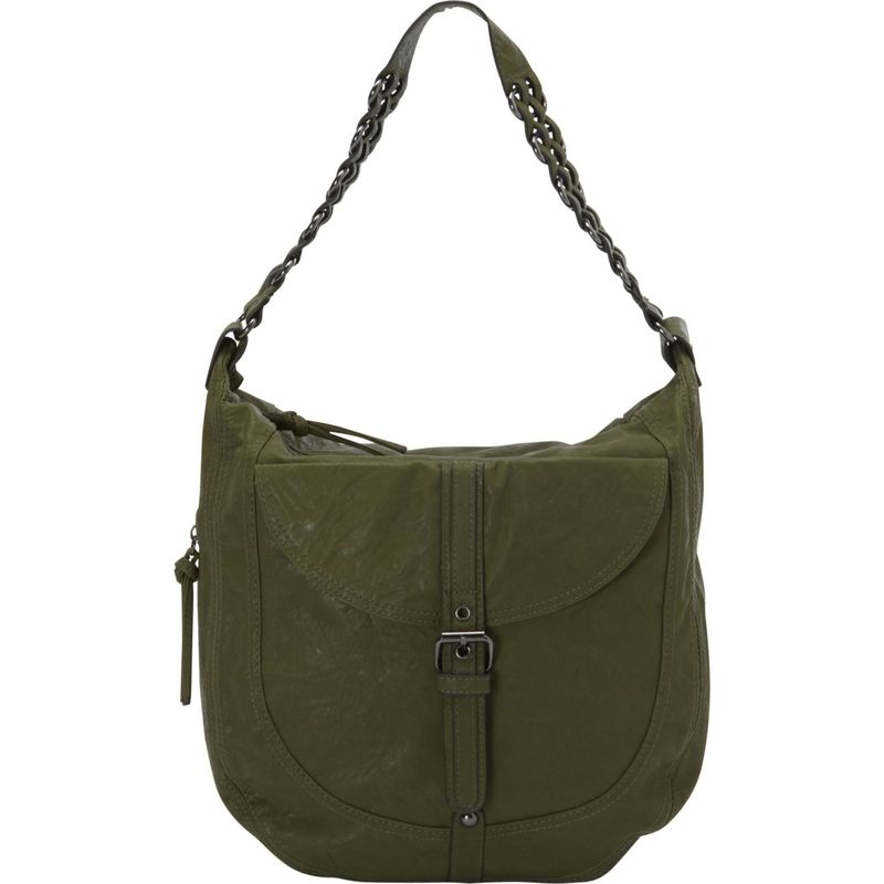 ドンナベラデザインズ メンズ ハンドバッグ バッグ Piper Rustic Hobo Bag Green